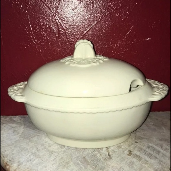 Vtg Ceramic Soup Tureen Lid #1109 Cabbage Design